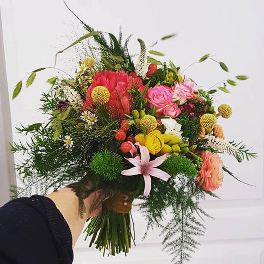 Un bouquet pour célébrer un anniversaire